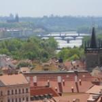Widok na Pragę ze wzgórza Hradczany