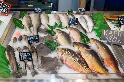 Sklep ze świeżymi rybami
